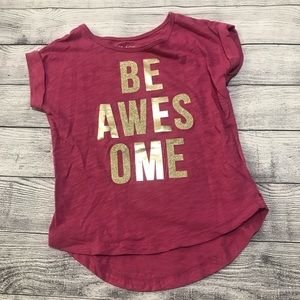 Children's Place Be Awesome Pink Short Sle…